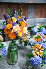 bouquets purple orange